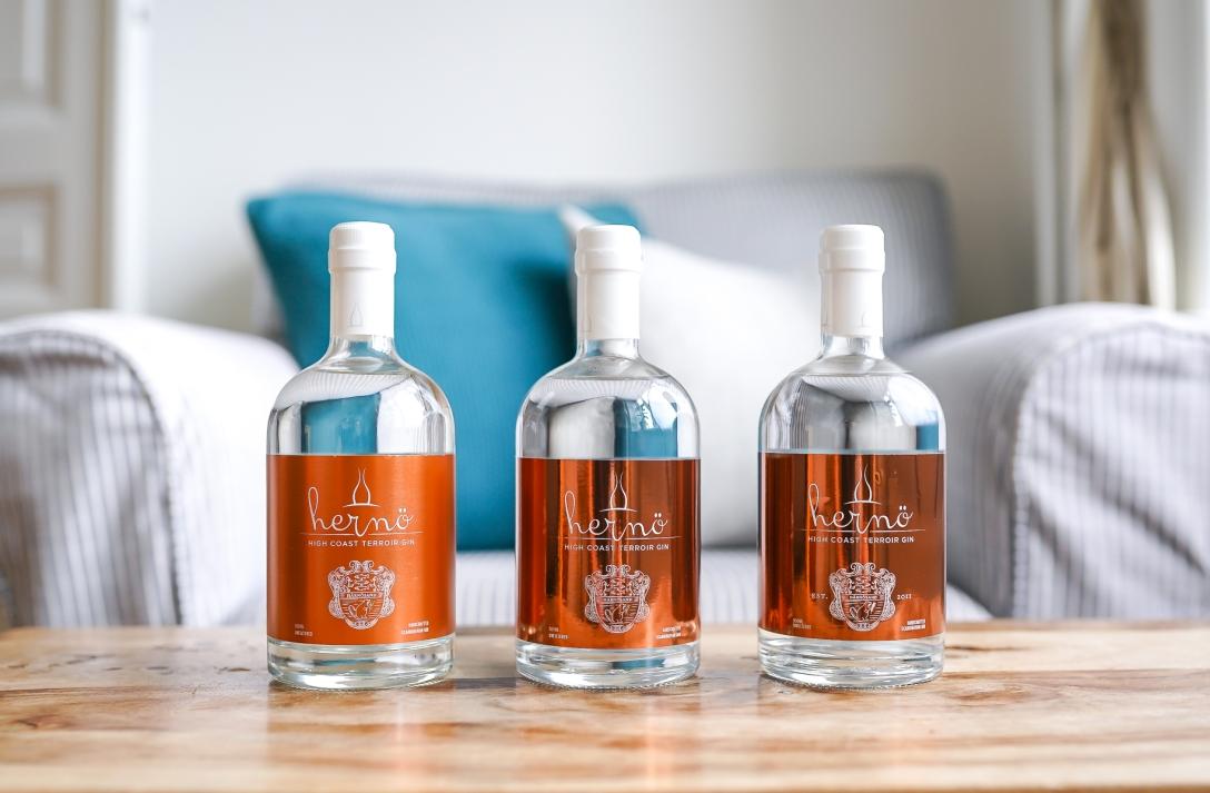 Hernö High Coast Terroir Gin vintage 2016, 2017, 2018. Photo by Michael Sperling.
