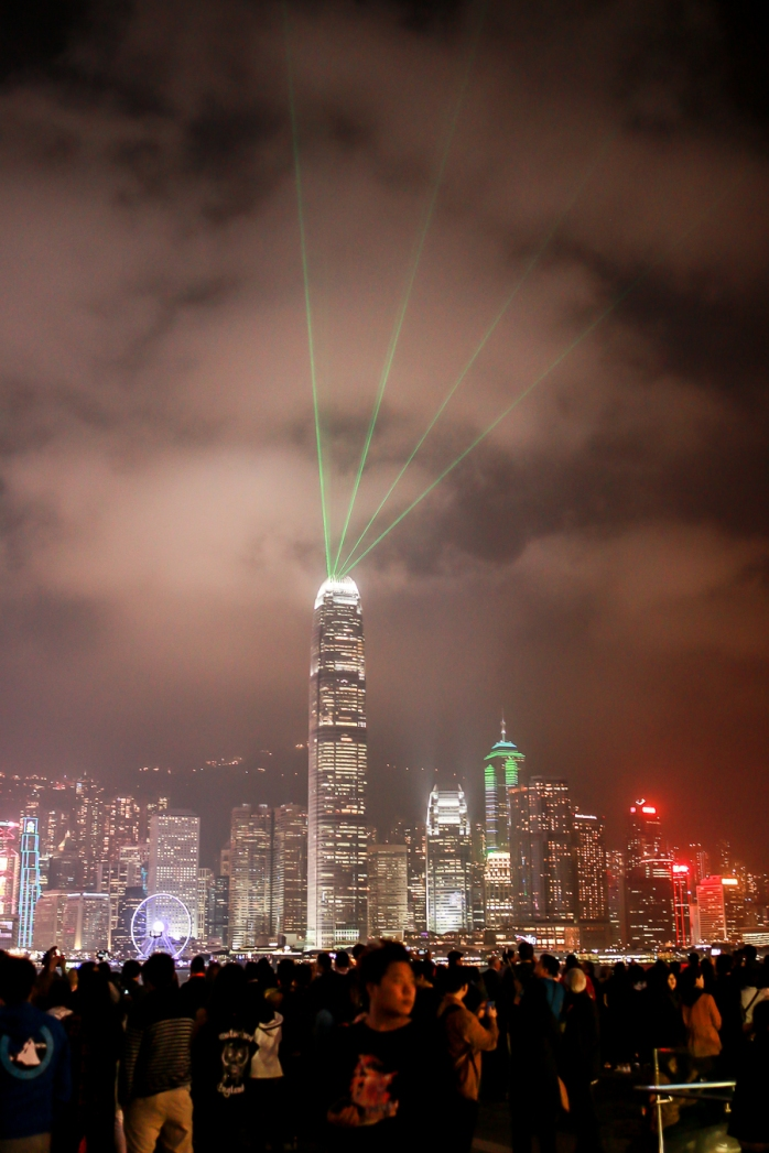 Hong Kong by night. Photo by Michael Sperling.