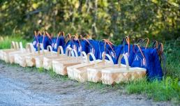Kurvene er linet up til deltagerne. Photo by Michael Sperling