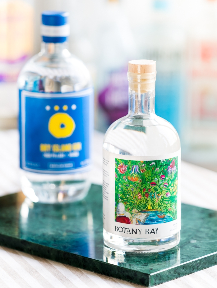 Botany Bay Gin og Dry Island Gin by Hernö Gin x Four Pillars Gin. Photo by Michael Sperling.