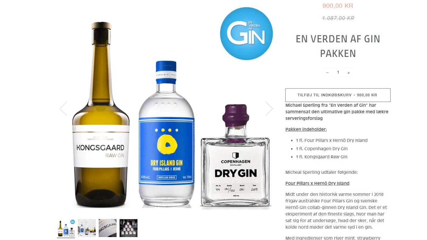 En Verden af Gin-ginpakke hos Collection Spirits til tilbudspris.