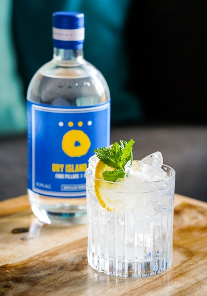 Dry Island Gin & Tonic - Hernö x Four Pillars. Photo by Michael Sperling.