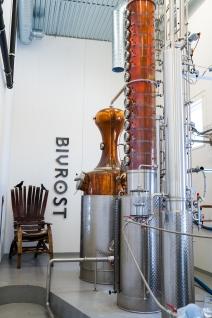 Den 1200-liters destillator hvor Bivrost Arctic Gin produceres. Photo by Michael Sperling.