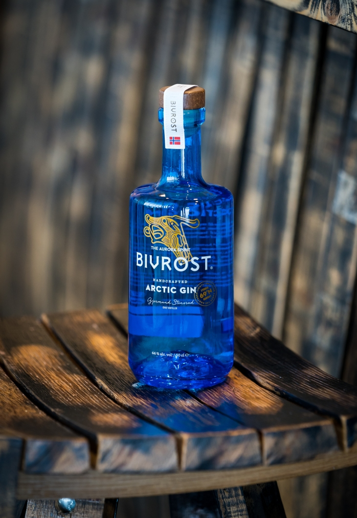 Bivrost Arctic Gin by Aurora Spirits Distillery. Photo by Michael Sperling.